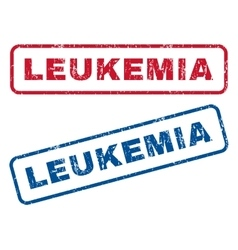 Leukemia rubber stamps vector