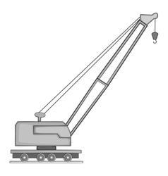 Lifting crane icon gray monochrome style vector image