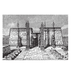 luxor temple large ancient egyptian temple vector image vector image