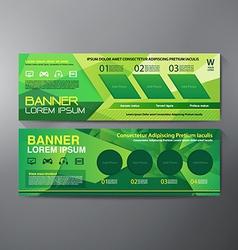 Modern banner business design template background vector