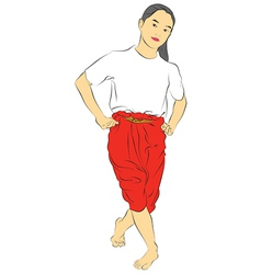 New thai dance vector
