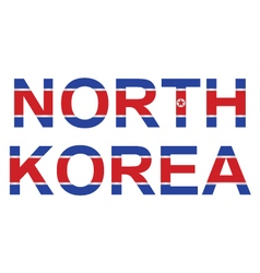 North Korea vector image