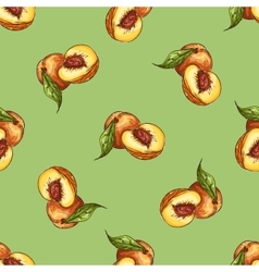 Pattern of peaches vector image
