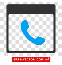 Phone calendar page eps icon vector