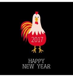 Rooster cock bird 2017 happy new year symbol vector