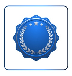 Seal award blue icon Blank medal vector image vector image