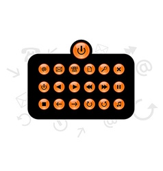 Set of info buttons vector image