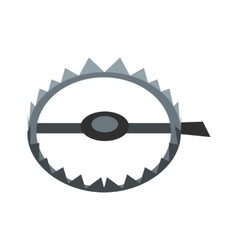 Sharp metal trap icon vector