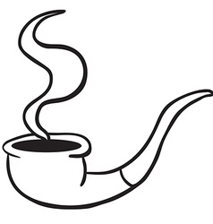 simple black and white smoking pipe vector image
