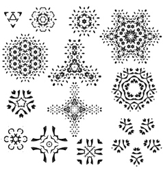 Snowflakes Christmas icons Snow flake vector image