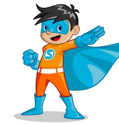 super kid vector image vector image