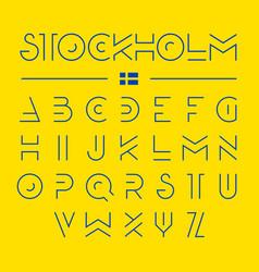 Thin line modern font design alphabet vector