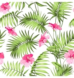 Tropical flowers and jungle vector image vector image