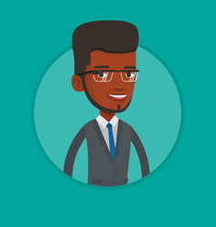 Young man wearing smart glass vector