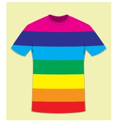 Coloured t-shirt template - peace concept vector