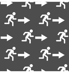 Exit arrow pattern seamless vector