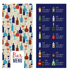 Bar menu template vector