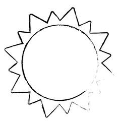 sun solar system astrology sketch vector image