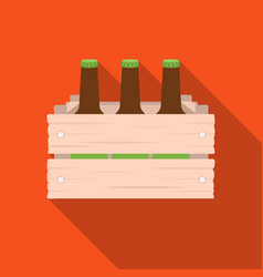 Box with beer icon in flat style isolated on white vector