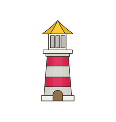 Lighthouse flat vector
