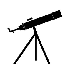 Telescope the black color icon vector