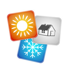 Symbol the air conditioner business vector
