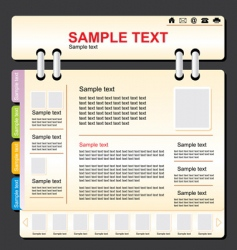 Template website vector