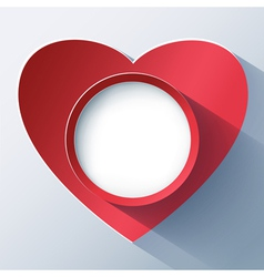 Valentines day card frame with 3d heart vector
