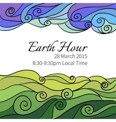 For earth hour aannual international vector