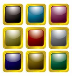 gold rivet bevel vector image