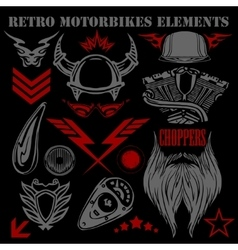 Design elements on black background for vintage vector