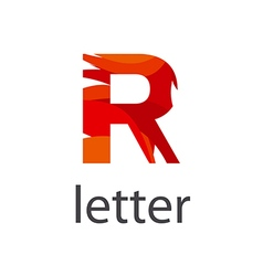 Abstract logo colored letter r vector