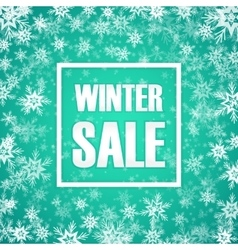 Winter sale inscription on background with vector