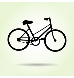 Bicycle icon female lady bike sport symbol vector