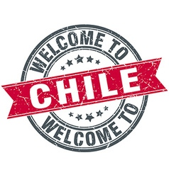Welcome to chile red round vintage stamp vector