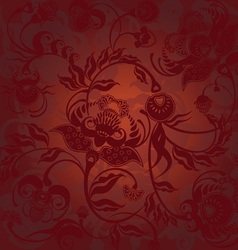 pattern dark brown vector image