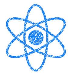 Atom grunge icon vector
