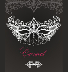 carnival mask on black background vector image