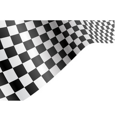 checkered flag flying wave white sport race vector image