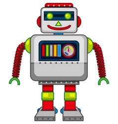 Cute robot with square body vector