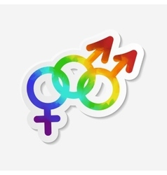 Gender identity icon bisexual symbol vector