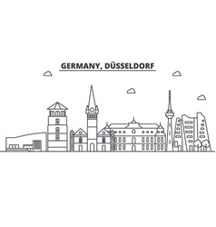 germany dusseldorf architecture line skyline vector image vector image