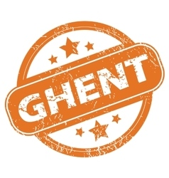 Ghent rubber stamp vector
