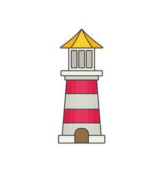Lighthouse flat vector