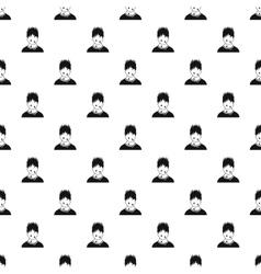 Male avatar sweat pattern simple style vector