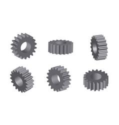 mechanical cogwheel set in 3d vector image