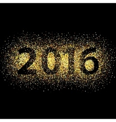 New Year glowing background vector image