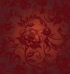 pattern dark brown vector image vector image