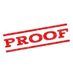 Proof watermark stamp vector
