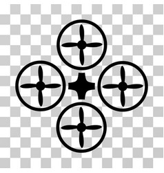 quadcopter icon vector image